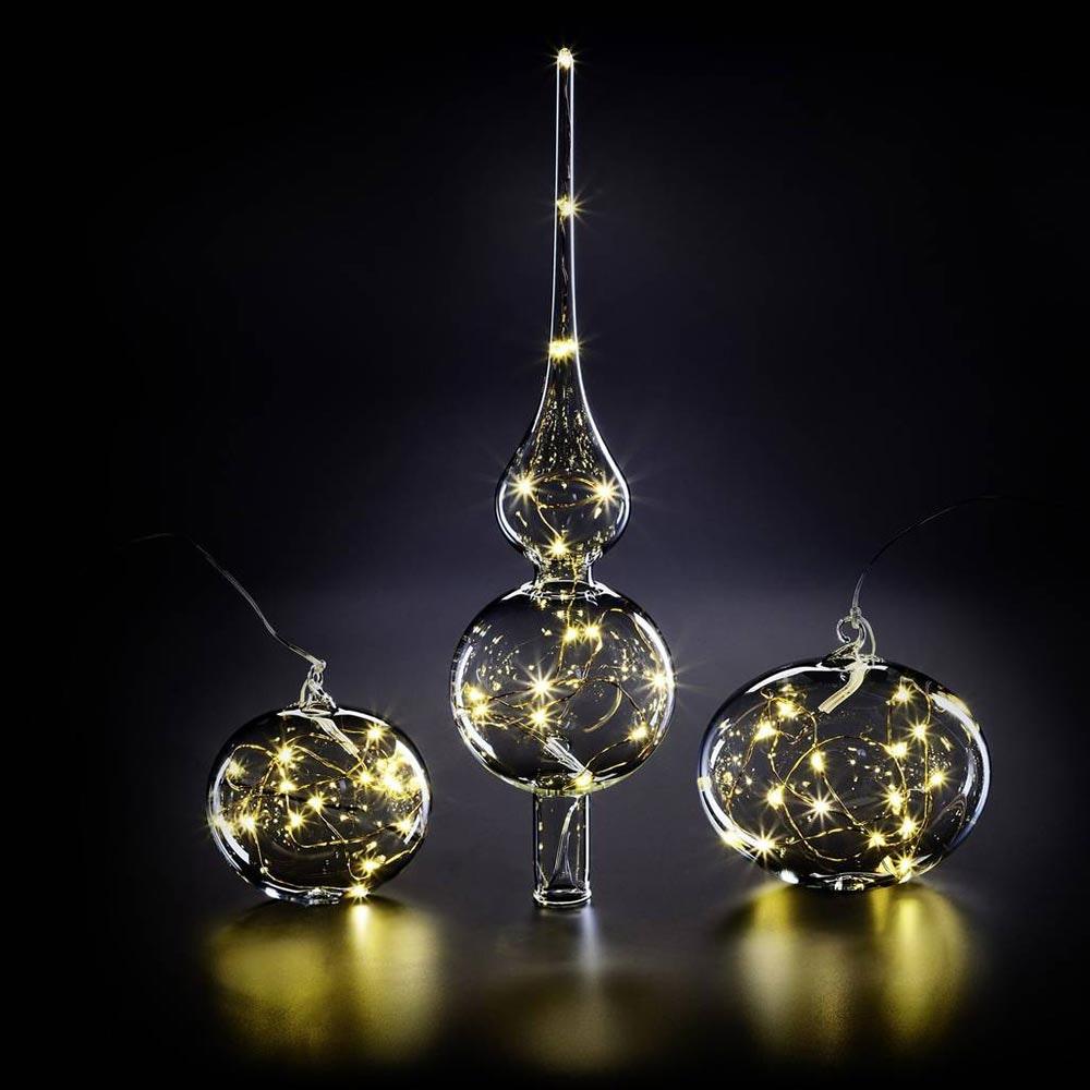 Krinner LED Christbaumkugel Lumix Lightball Klar 2