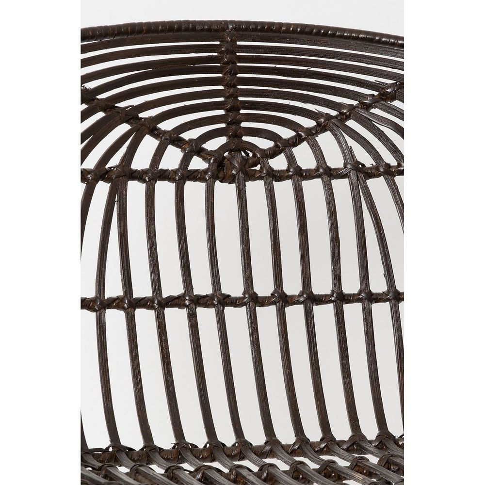 Stuhl mit Lehne Seguito Rattan-Metall Braun-Schwarz 4