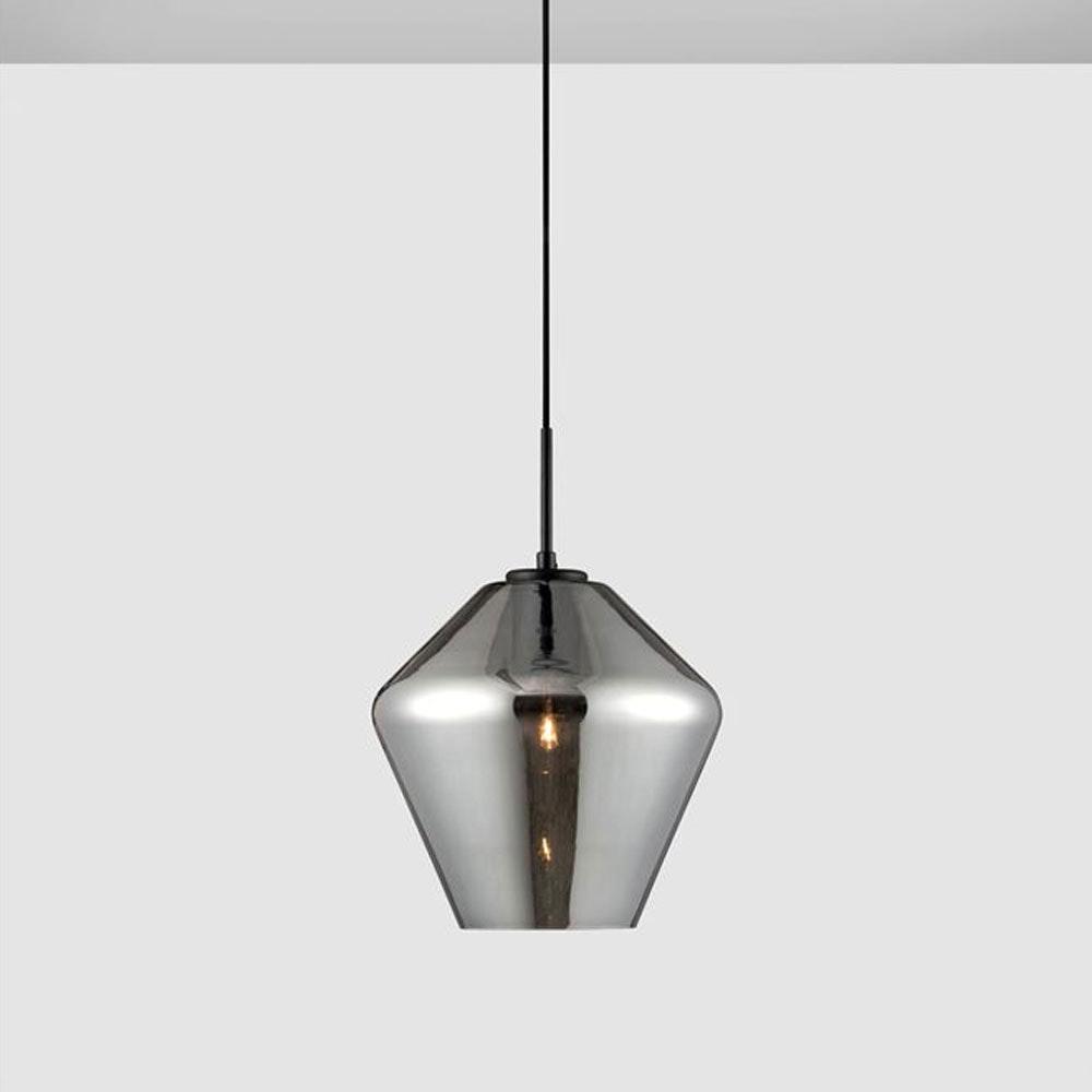 Nova Luce Veiro Hängeleuchte mundgeblasenes Rauchglas 1