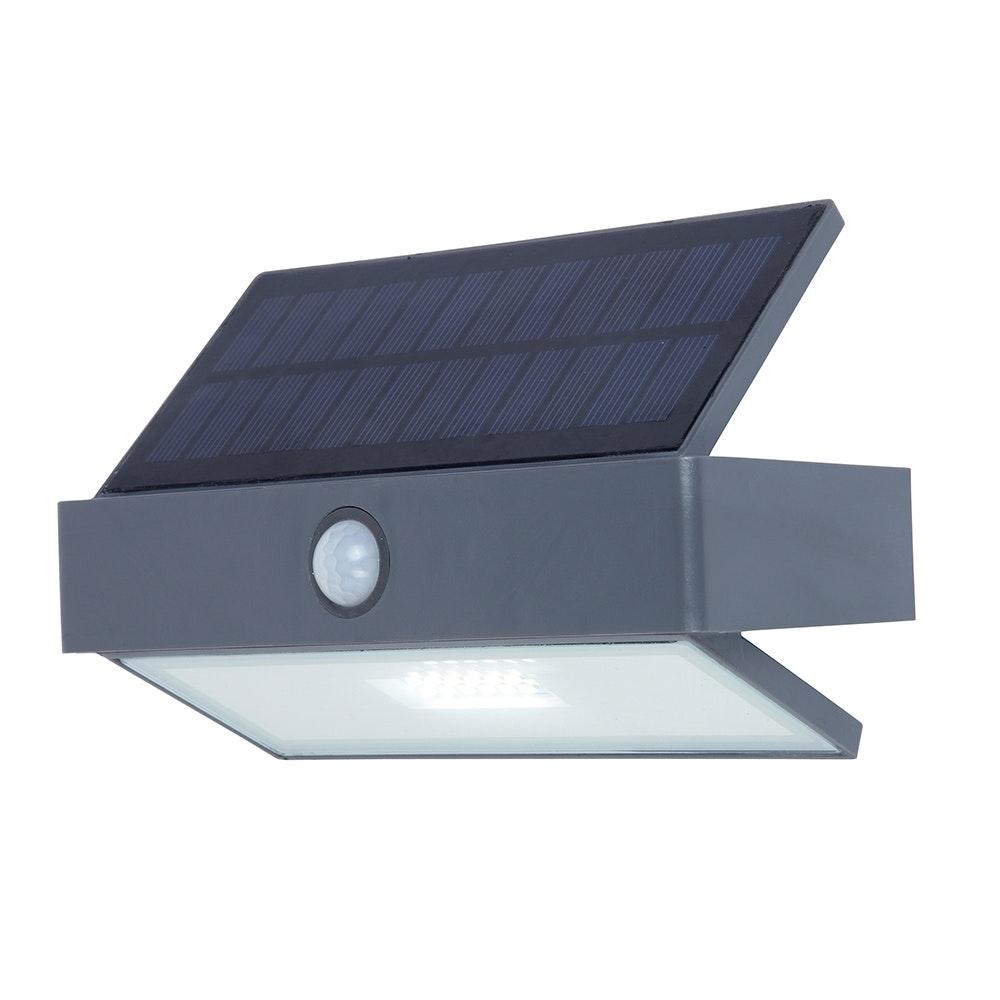 LED-Wandleuchte Arrow mit Solarpanel und Bewegungsmelder 2