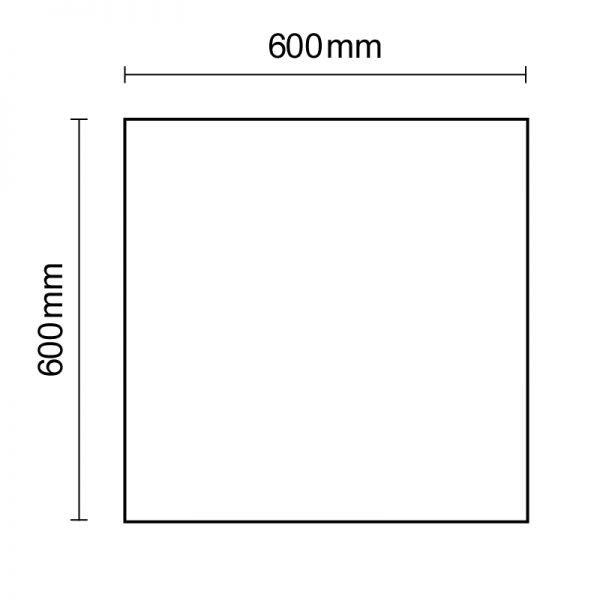 LED Panel rahmenlos 600 Neutralweiß dimmbar 5100lm Weiß 6