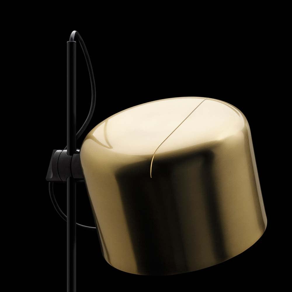 Oluce stilsichere Stehlampe Coupe 140cm Schwarz, Goldfarben 2
