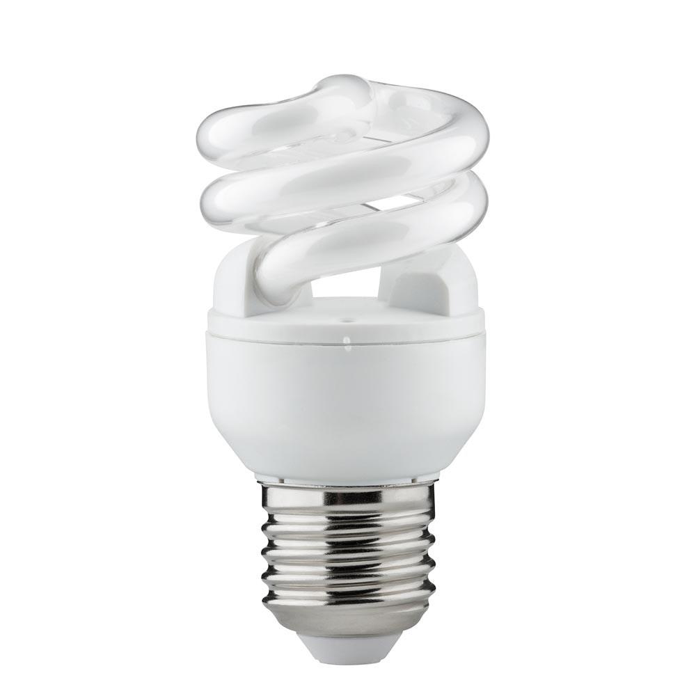 Energiesparlampe Spirale 7W E27 Warmweiß