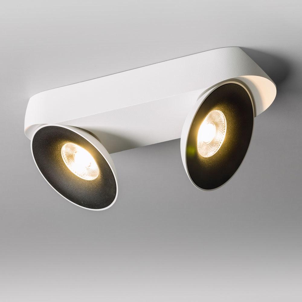 Santa 2er LED Aufbauspot schwenkbar & dimmbar 2 x 810lm Weiß, Schwarz