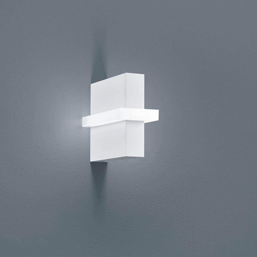 Helestra LED Außen-Wandleuchte Oki IP54 880lm Mattweiß