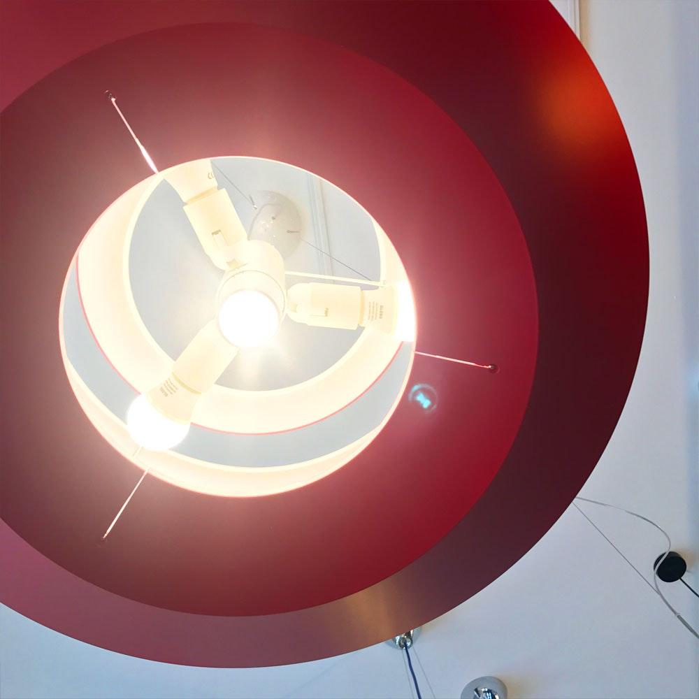 Foscarini Le Soleil Pendelleuchte Ø 62cm Rot 2