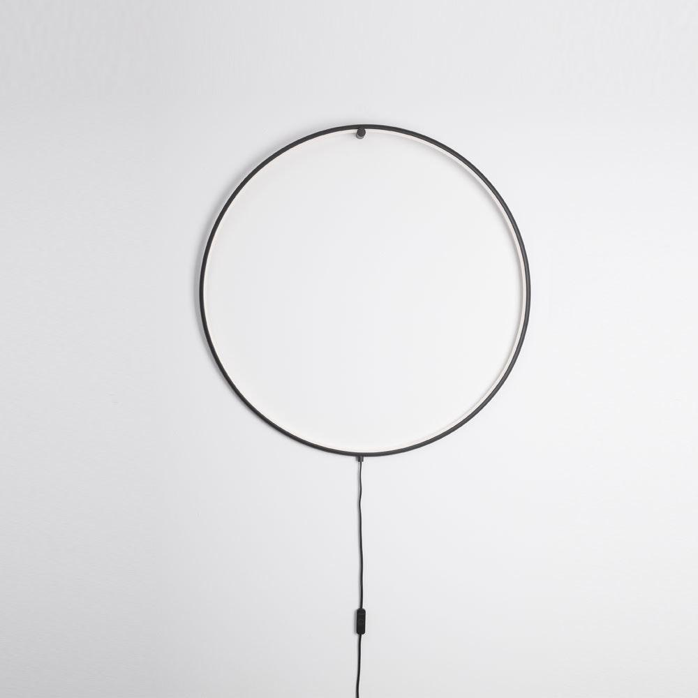Nova Luce Ring LED-Wandleuchte zum aufhängen Schwarz 2