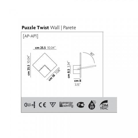 Studio Italia Design Puzzle Twist LED Wandlampe thumbnail 5