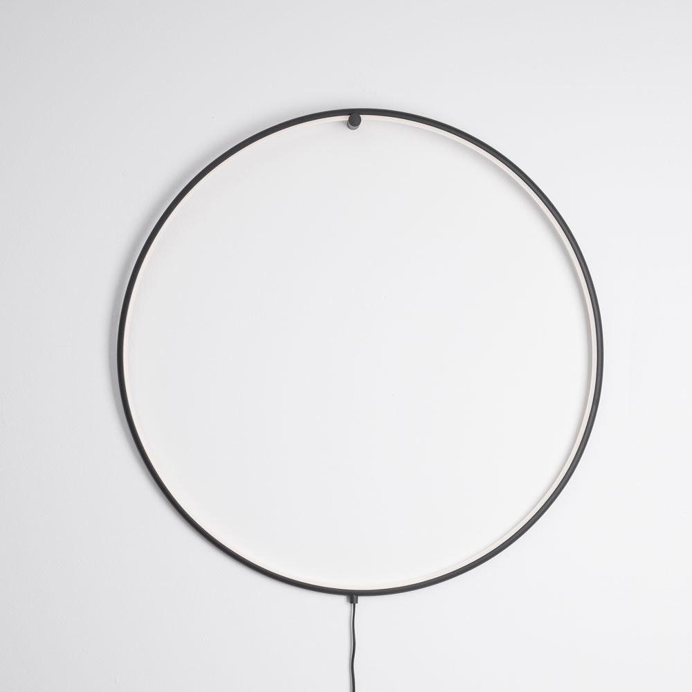 Nova Luce Ring LED-Wandleuchte zum aufhängen Schwarz 1