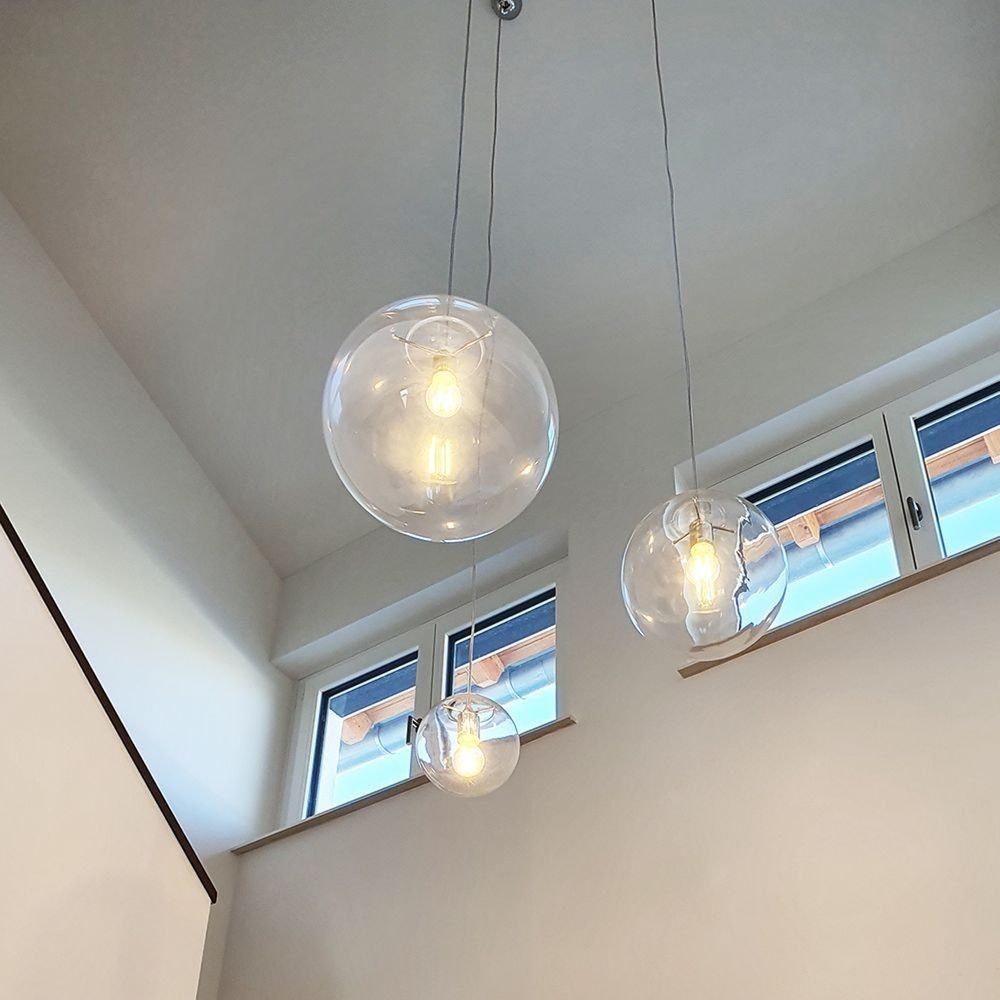 s.LUCE Orb Glaskugel Galerieleuchte 5m Abhängung 30