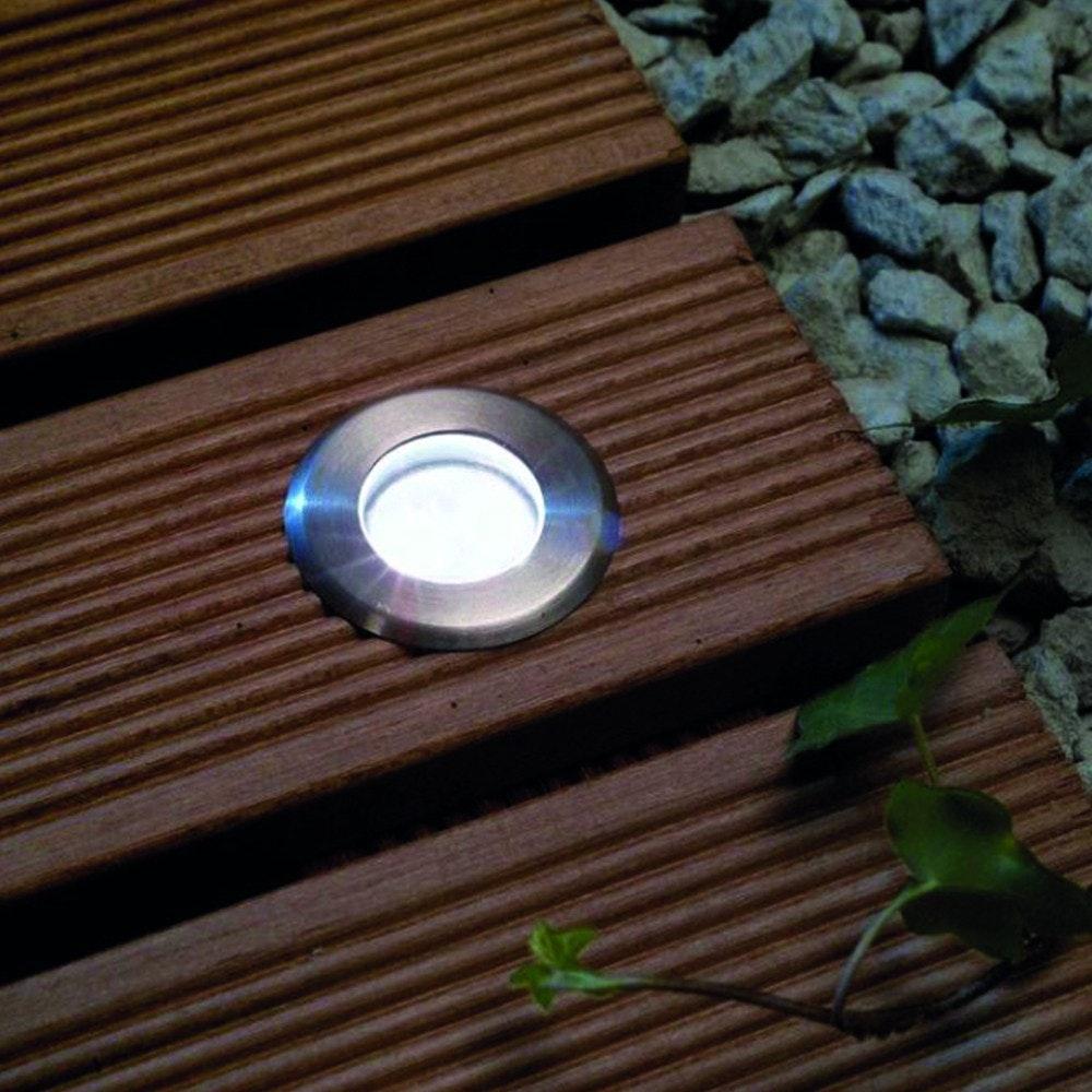 LED-Einbauleuchte Gordo IP66 rund 10cm Edelstahl 1