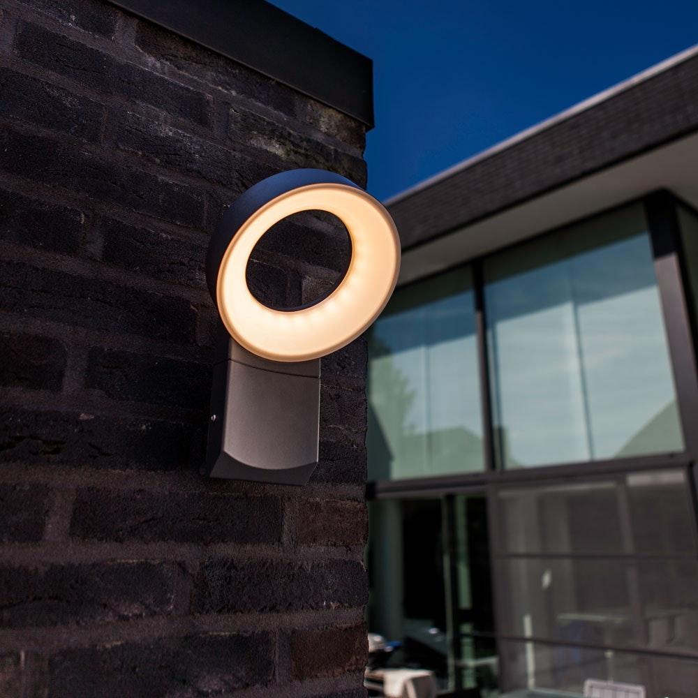 Meridian LED-Außenwandleuchte IP44 800lm Anthrazit thumbnail 5
