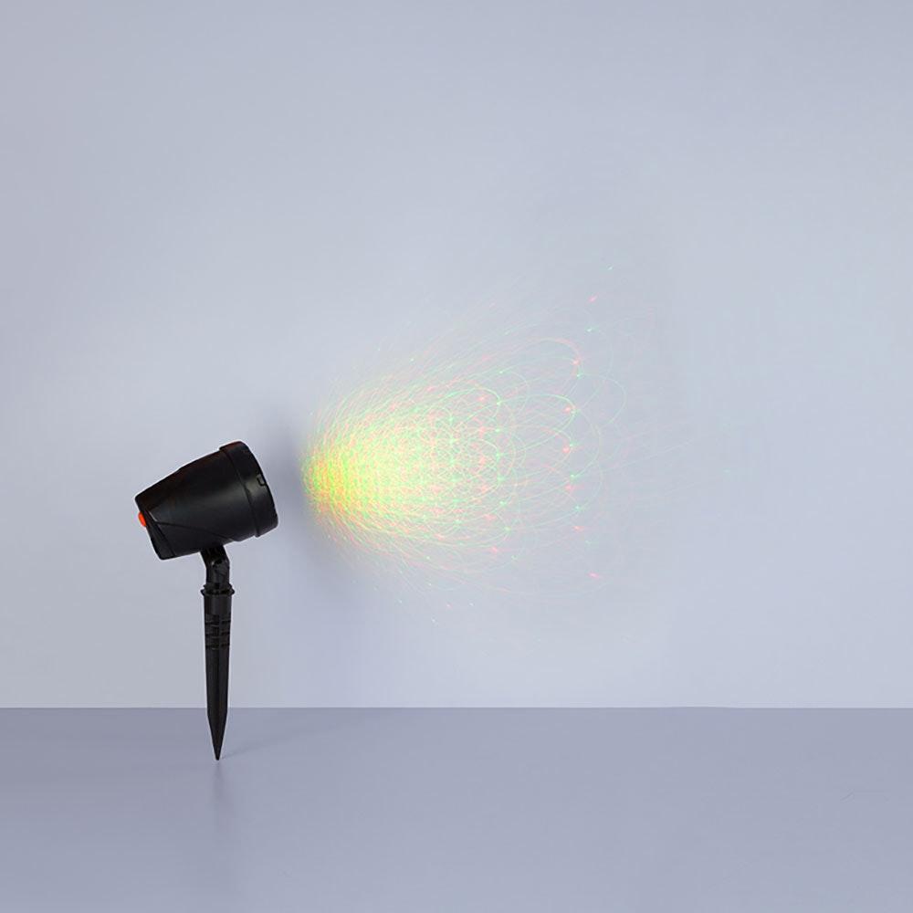 Laser Außenleuchte Meriton Laser mit Erdspitz 30m Schwarz 6