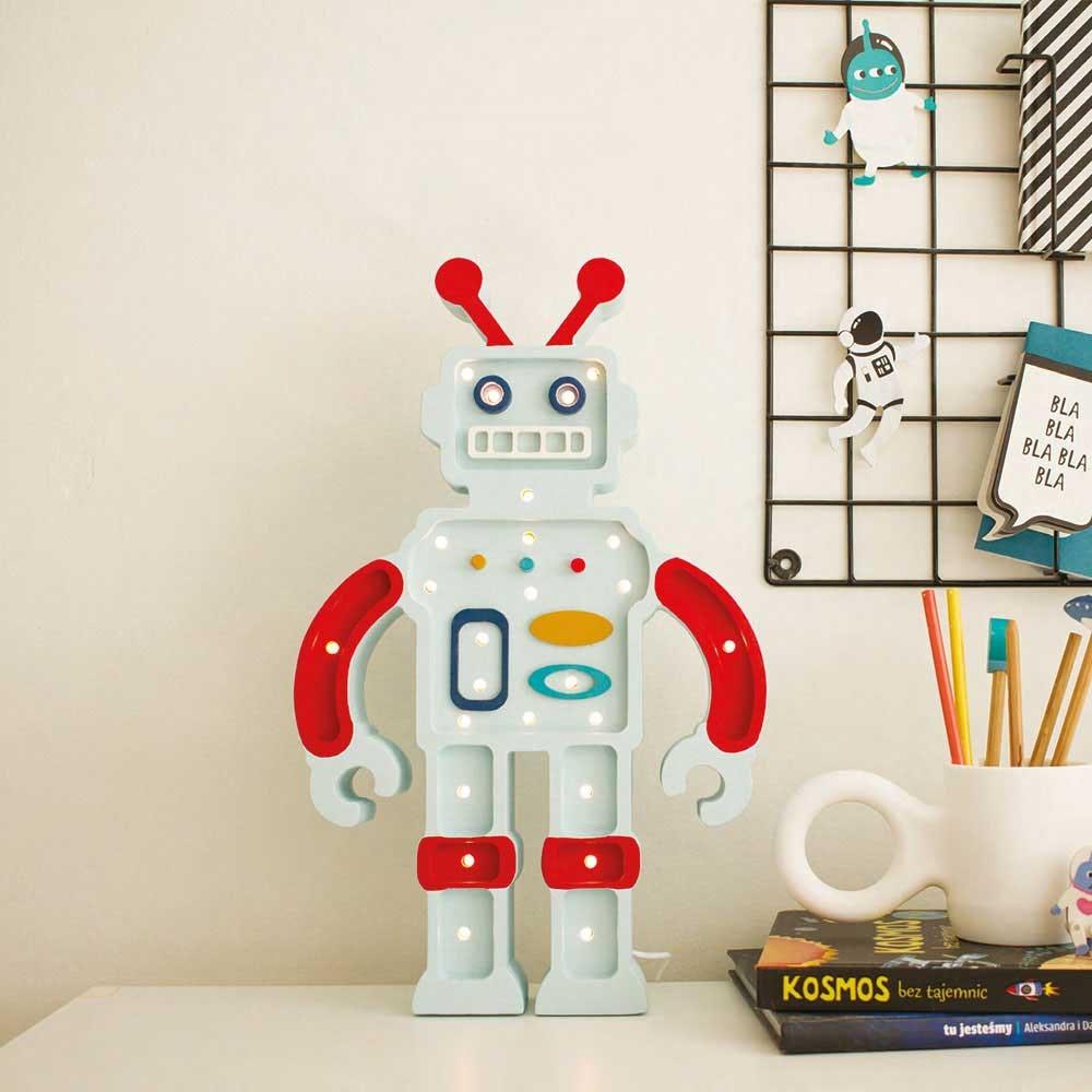 Little Lights Kinder Wand- & Tischleuchte Roboter  2