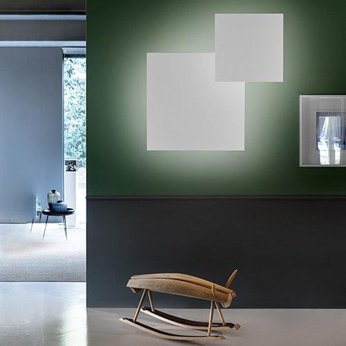 Studio Italia Design Puzzle Mega Square 80cm Wand- & Deckenlampe Weiss 1