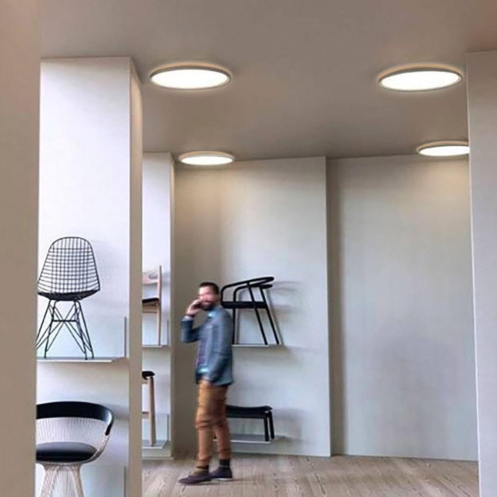 LED Deckenleuchte Board 42 Direkt & Indirekt 2700K Dimmbar per Schalter Weiß thumbnail 3