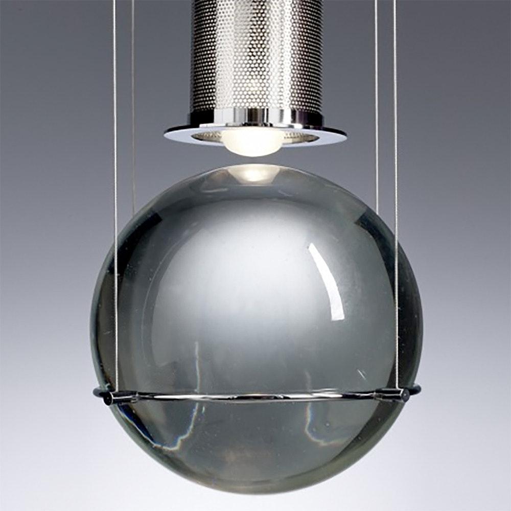 Tecnolumen LED-Hängeleuchte Le tre streghe  Muranoglas Chrom 7