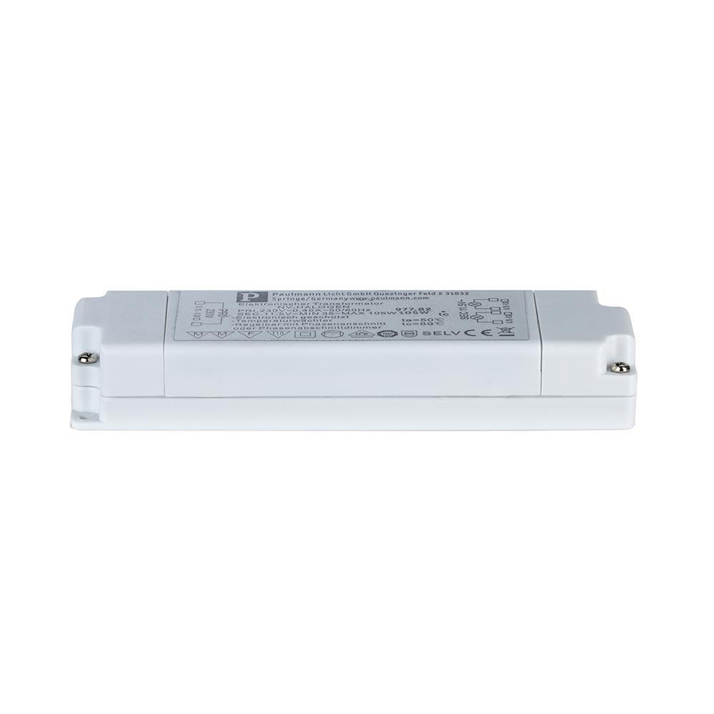 VDE Flat Elektroniktrafo 35-105W 12V 105VA Weiß 1