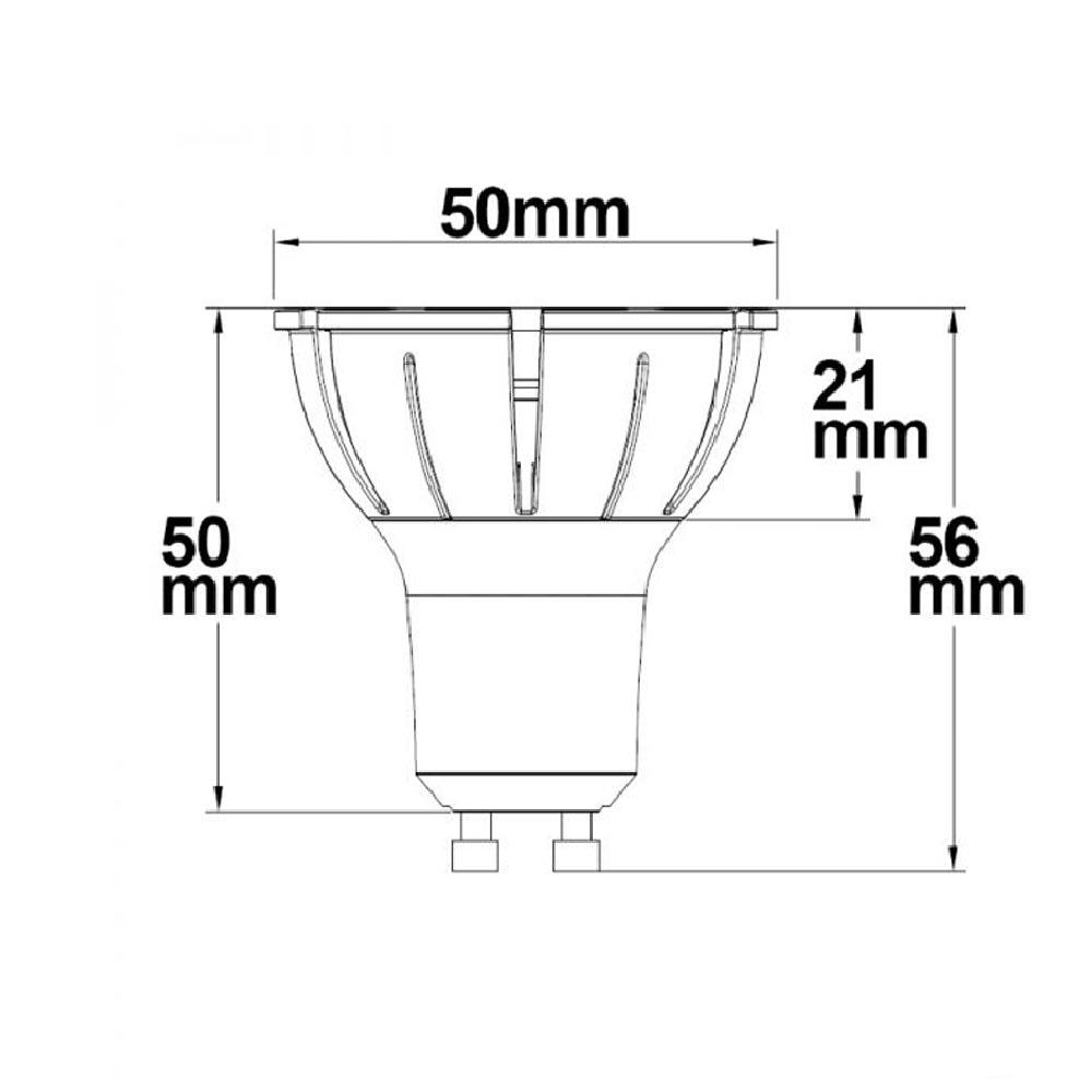 GU10 LED-Leuchtmittel 7W Vollspektrum 500lm 36° 4000K dimmbar CRI98 2