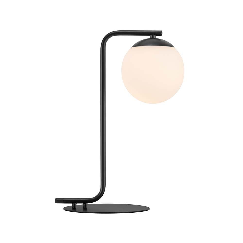 Nordlux Tischlampe Grant Schwarz, Opal Weiß 2