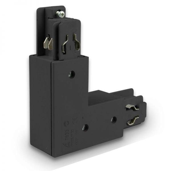 3-Phasen Eck-Verbinder 90° Innen Schwarz 1