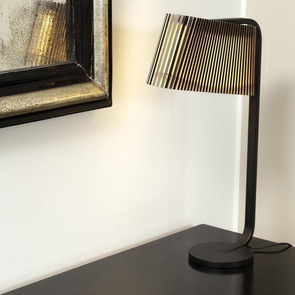 LED Tischleuchte Owalo 7020 aus Holz 50cm 3