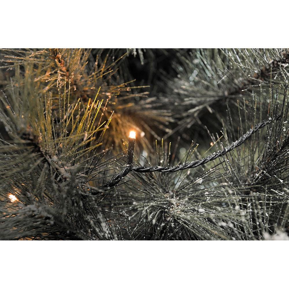 Micro LED Lichterkette 80 bernsteinfarbene Dioden IP44 2