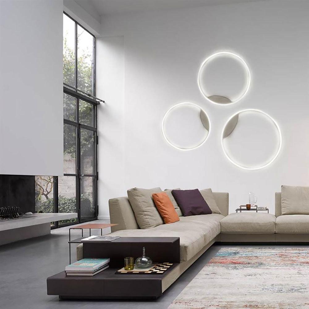s.LUCE LED Ring 100 Wand & Decke Dimmbar Chrom 14