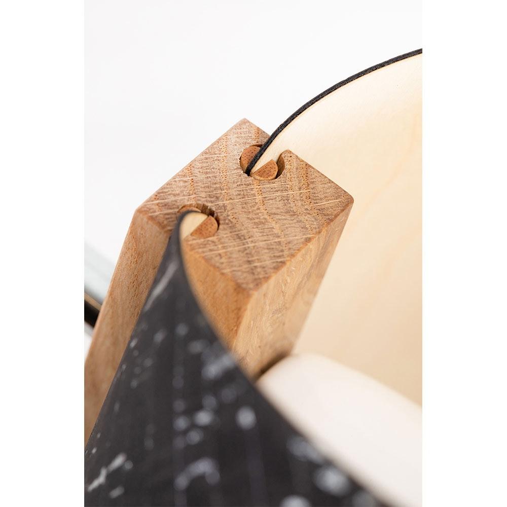 Holz Stehleuchte mit Schirm geschwungen 167cm thumbnail 6