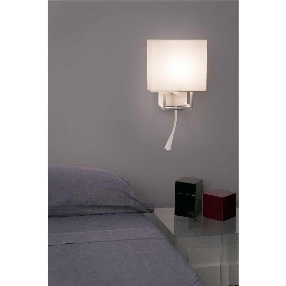 Wandleuchte VESPER mit LED-Leselampe IP20 Weiß, Beige thumbnail 4