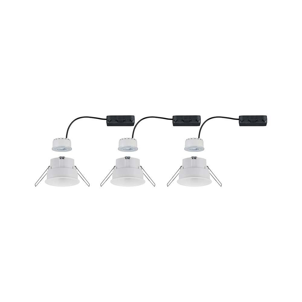 3er-Set LED Einbaulampen Cymbal Coin Warmdimmfunktion IP44 Weiß 6