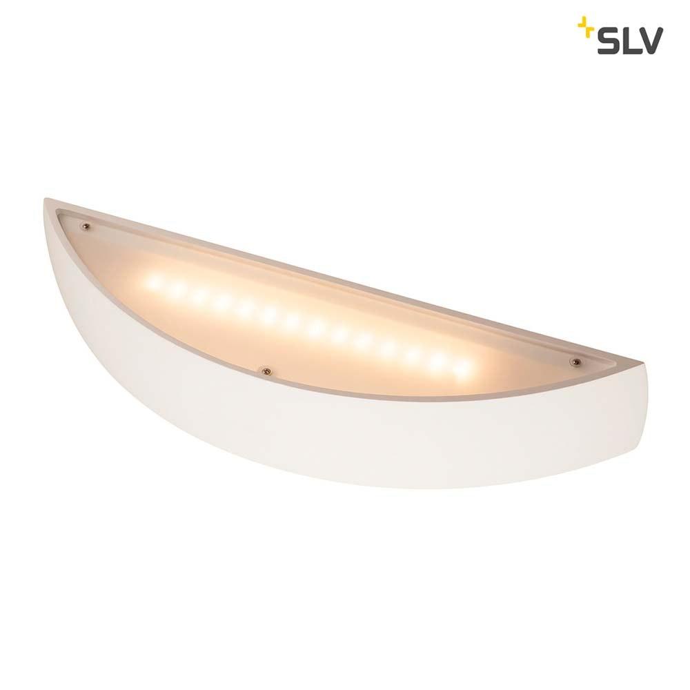 SLV Plastra Gips Wandleuchte LED 3000K Gewölbt Up/Down Dimmbar 5