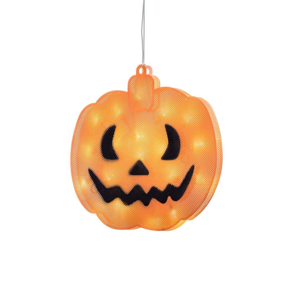 LED Fensterbild Kürbis für Halloween 3