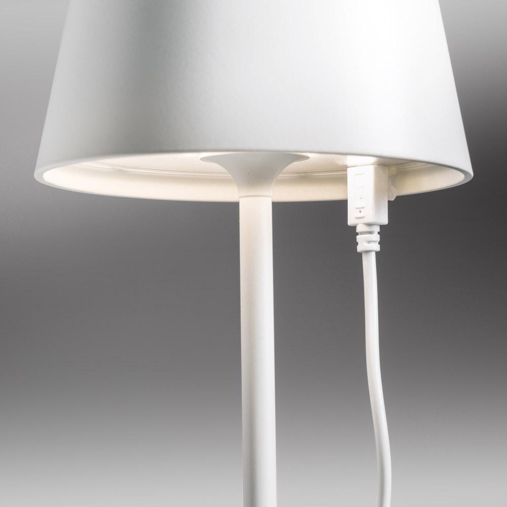 LED Tisch-Akkuleuchte Qutarg für Außen IP54 Dimmbar Braun 10