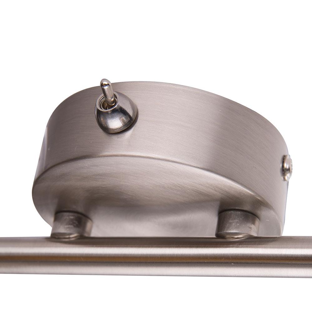 Strahler Alys 2-flg. Schirm mit Dekorstanzungen Nickel-Matt, Silber-Metallic 4
