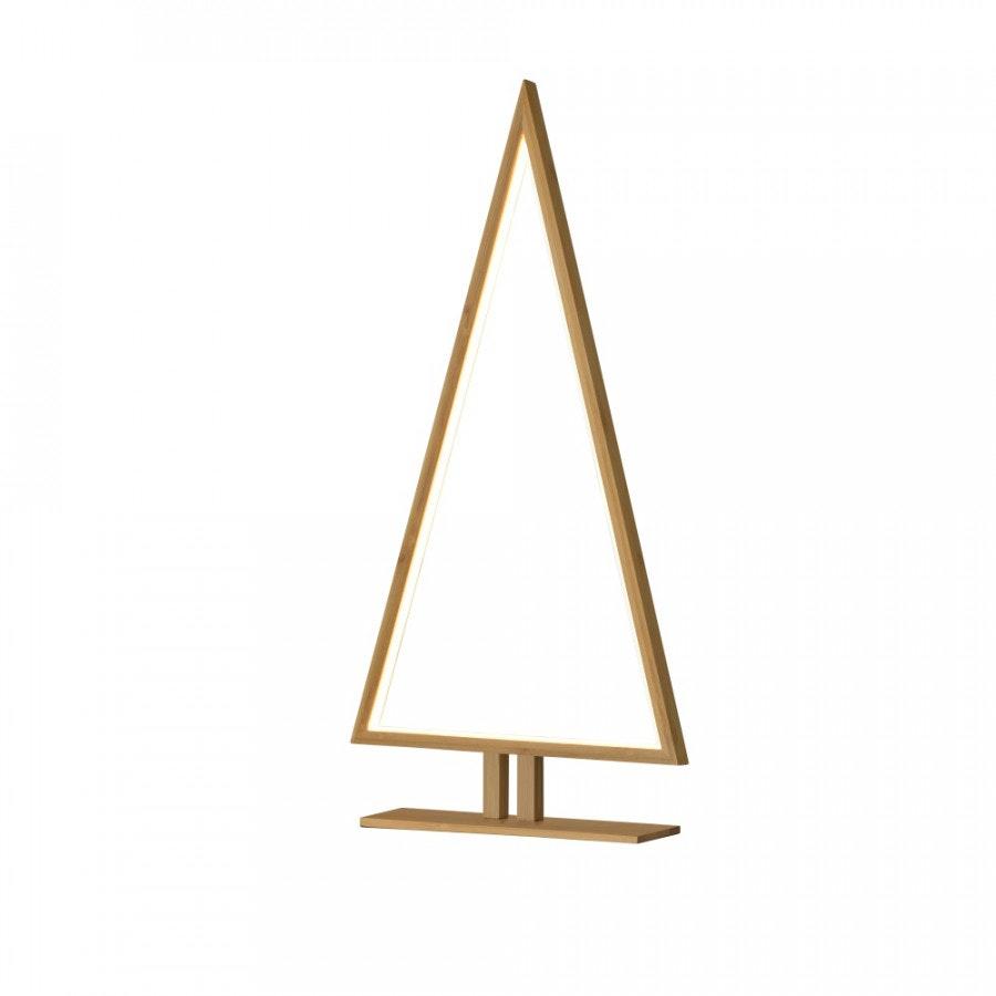 LED Bambus Weihnachtsdeko Tischlampe Pinewood 65cm Natur