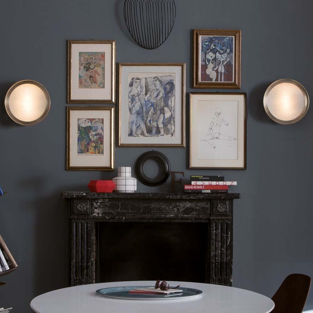 Oluce klassische Deckenlampe Berlin 30 Antik-Goldfarben 2