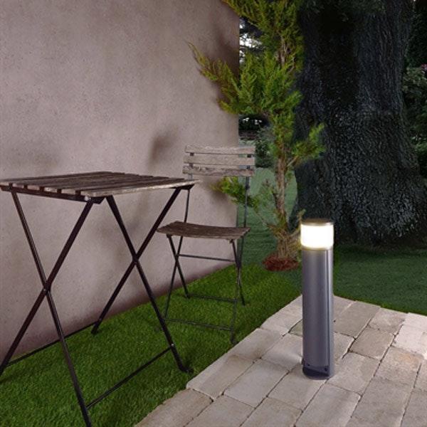 Pollerlampe Rook T mit Steckdose & Klappe H 46,5cm IP54 Anthrazit 2