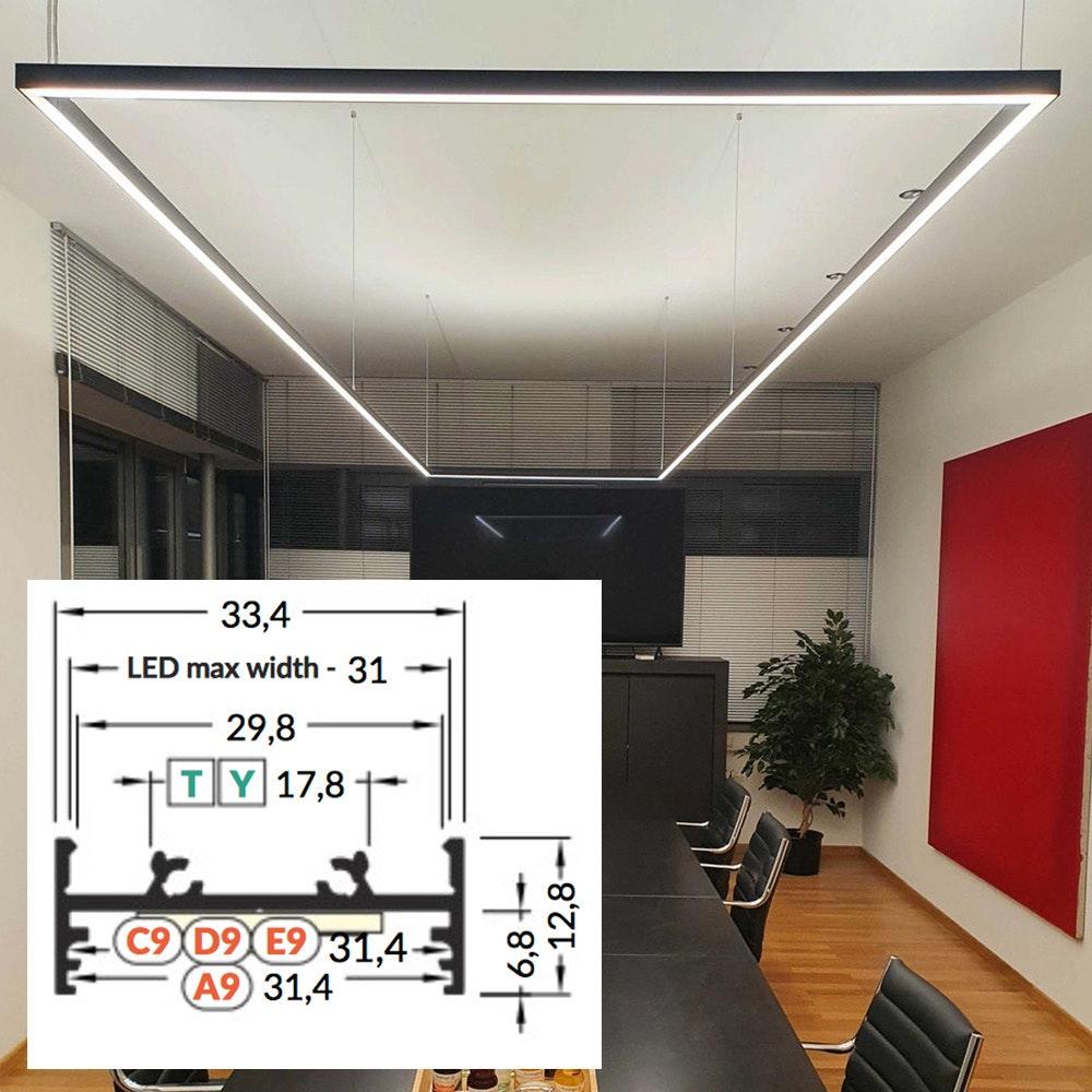 LED Aluminium Profil 2m alle Varianten  2