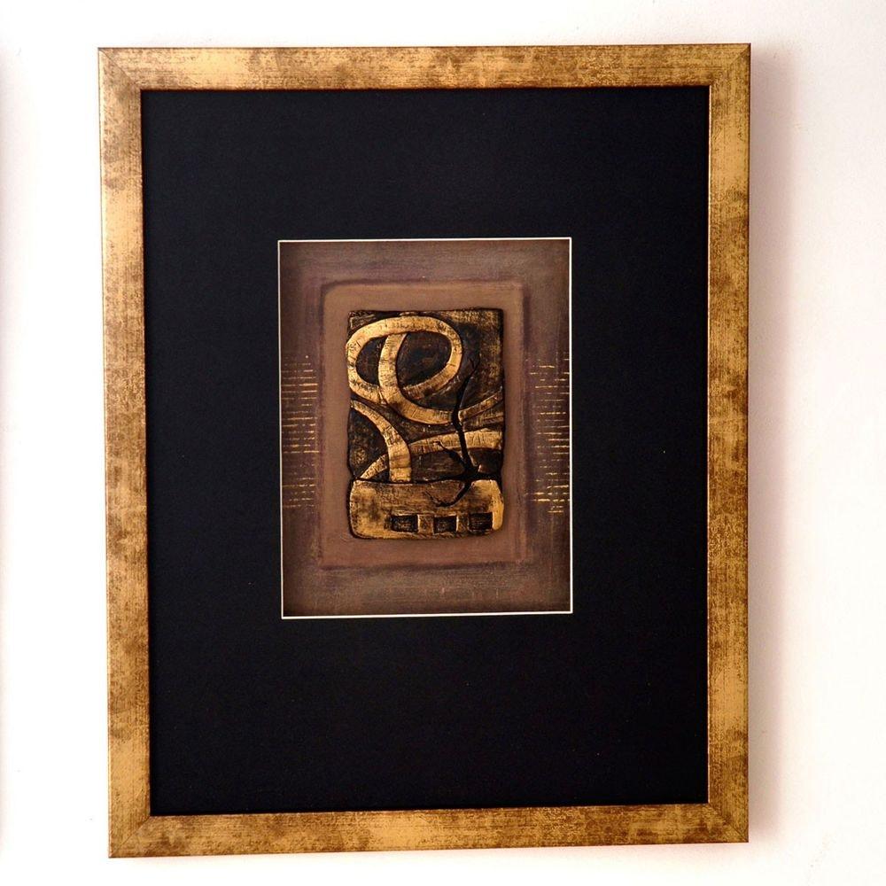 Wandbild Immagine 1 Holz-Glas-Kunststein Gold-Schwarz 1