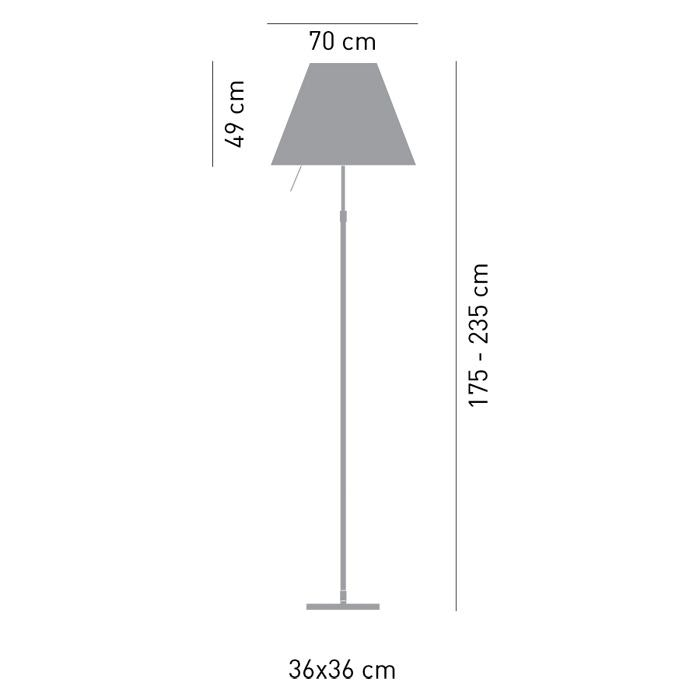 Luceplan Stehlampe Grande Costanza mit Sensor-Dimmer thumbnail 5