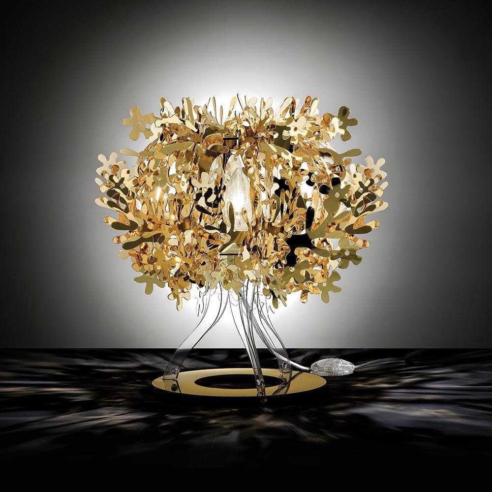 Slamp Tischlampe Fiorella 370lm 2800K Goldfarben 1