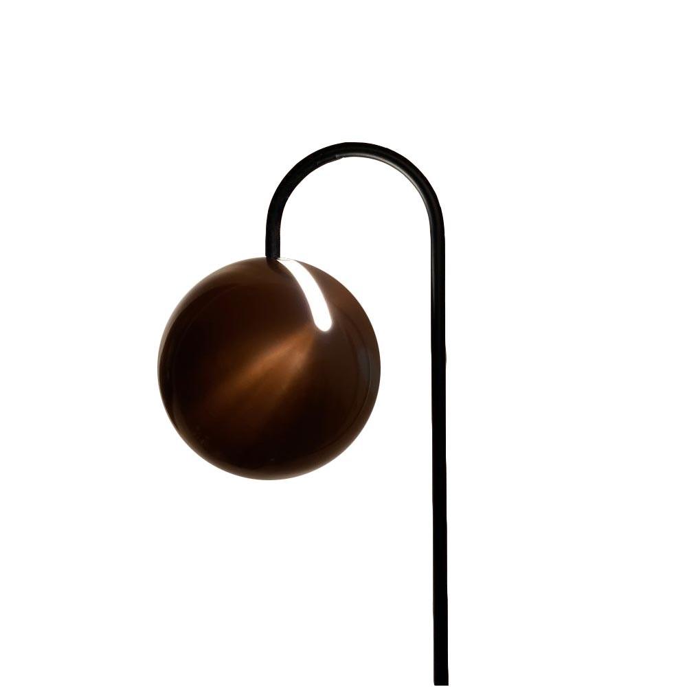 s.LUCE Ball Stehleuchte schwarzer Marmor 170cm 17