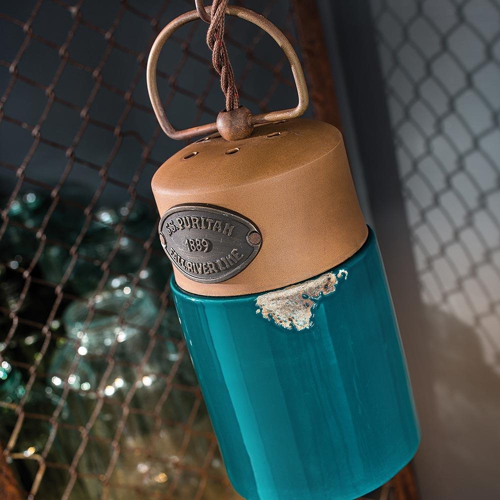 Ferroluce Industrial Hängeleuchte aus Keramik 3
