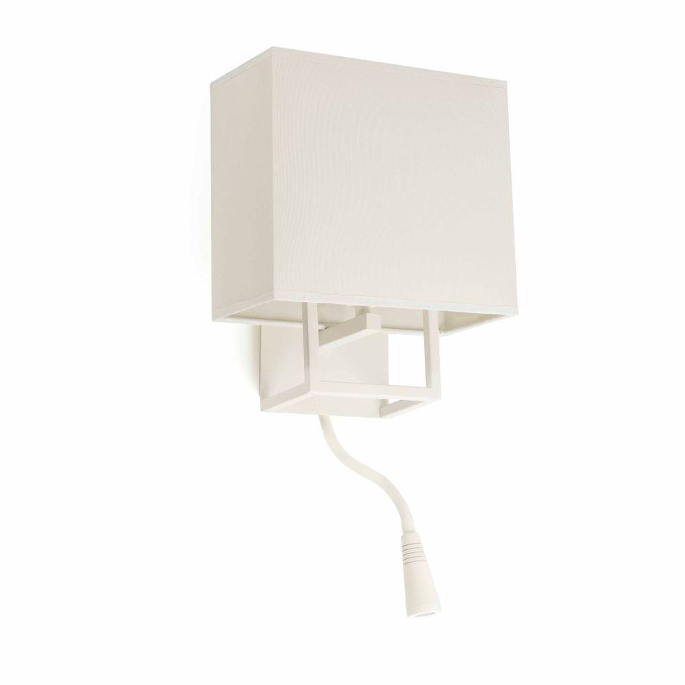 Wandleuchte VESPER mit LED-Leselampe IP20 Weiß, Beige 1