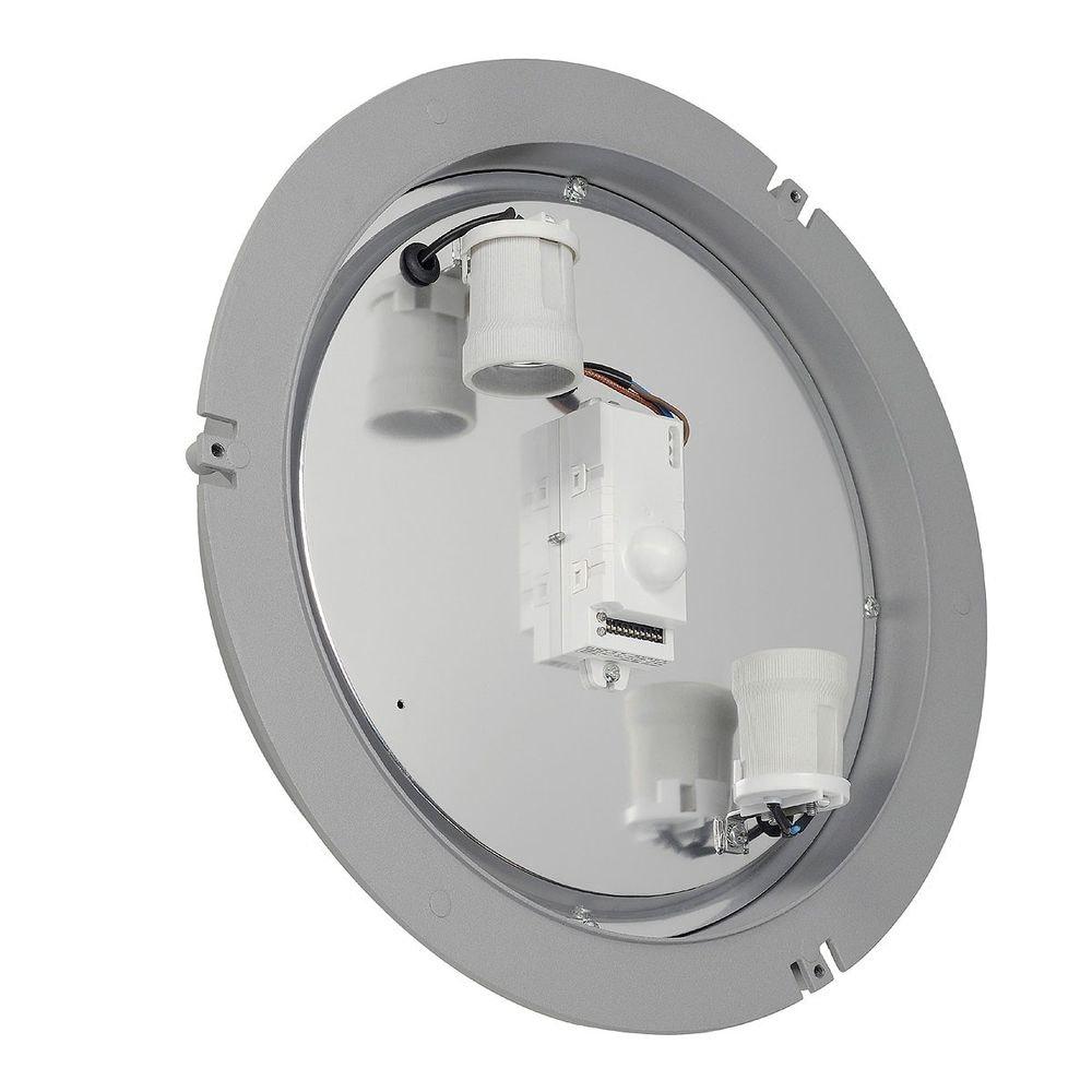 SLV Dragan Sensor Wand- und Deckenleuchte silbergrau E27 IP44 1