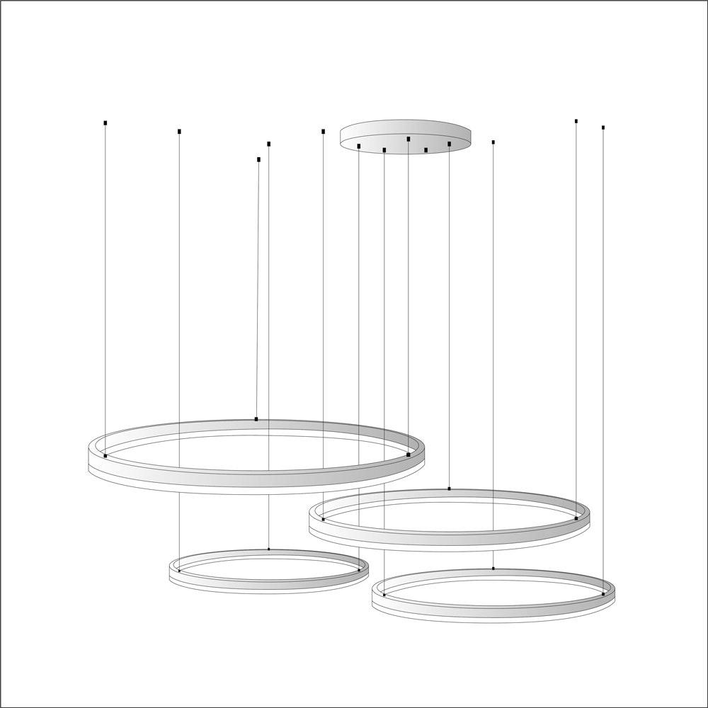 s.LUCE Ring Umbau zentrisch / exzentrisch (ohne LED-Ringe) 9