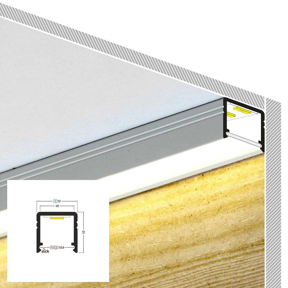 LED Aluminium Profil 2m alle Varianten  6