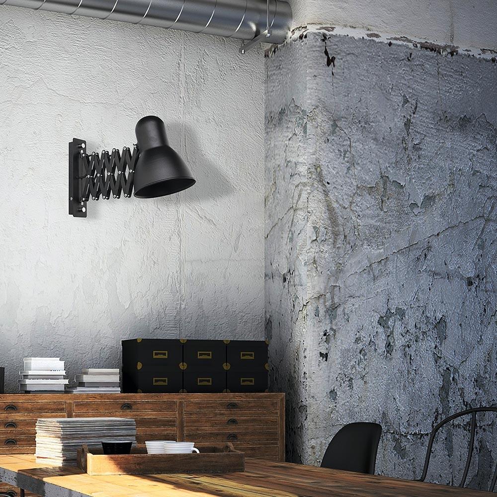 Licht-Trend Wandlampe Harmony Ausziehbar Schwarz 2