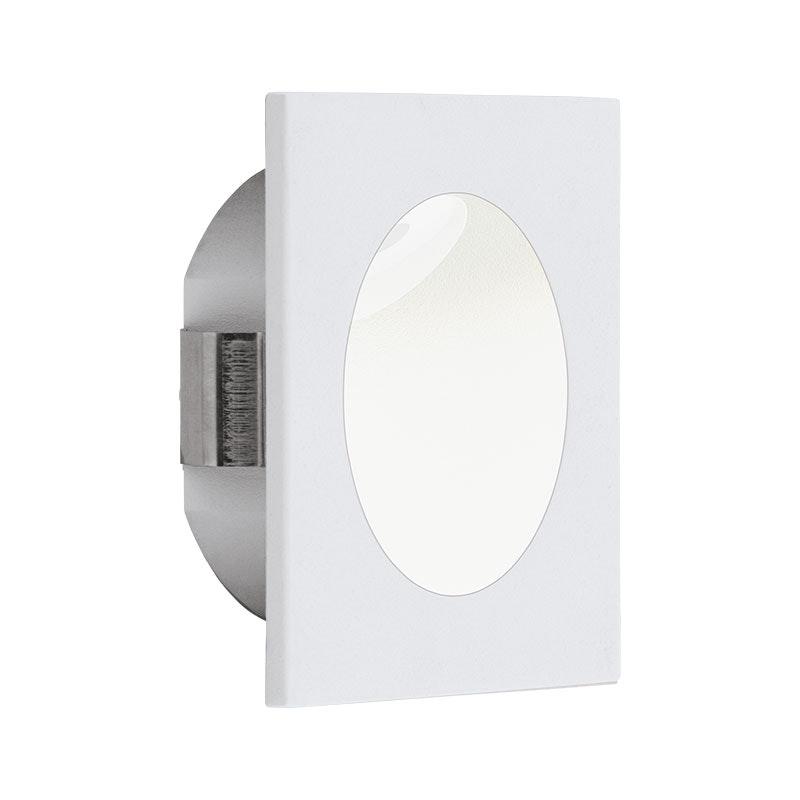 LED-Wandeinbauleuchte Zarate 8 x 8cm Weiß